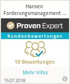 Erfahrungen & Bewertungen zu Hansen Forderungsmanagement GmbH & Co. KG