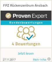 Erfahrungen & Bewertungen zu FPZ Rückenzentrum Ansbach