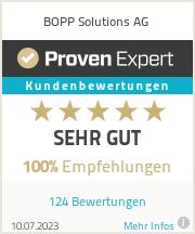 ProvenExpert - Erfahrungen & Bewertungen zu BOPP Solutions AG