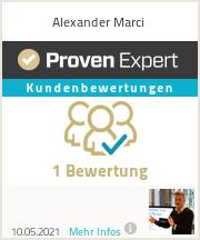 Erfahrungen & Bewertungen zu Alexander Marci