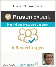 Erfahrungen & Bewertungen zu Dieter Bickenbach