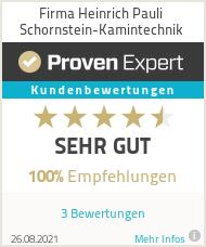 Erfahrungen & Bewertungen zu Firma Heinrich Pauli Schornstein-Kamintechnik