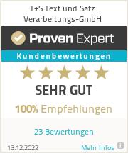 Erfahrungen & Bewertungen zu T+S Text und Satz Verarbeitungs-GmbH