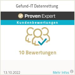 Erfahrungen & Bewertungen zu Gefund-IT Datenrettung