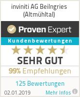 Erfahrungen & Bewertungen zu inviniti AG Beilngries (Altmühltal)