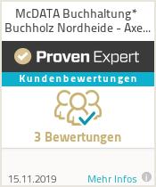 Erfahrungen & Bewertungen zu McDATA Buchhaltung* Buchholz Nordheide - Axel Fuchs