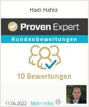 Erfahrungen & Bewertungen zu Hadi Hafez