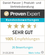 Erfahrungen & Bewertungen zu Daniel Panzer | Produkt- und Vertriebsberatung