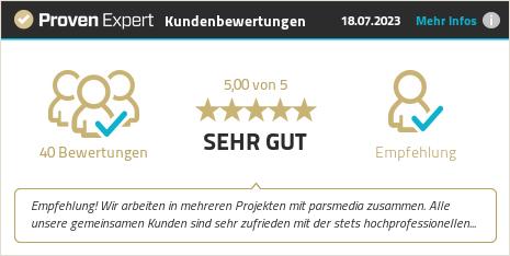 Erfahrungen & Bewertungen zu parsmedia GmbH anzeigen