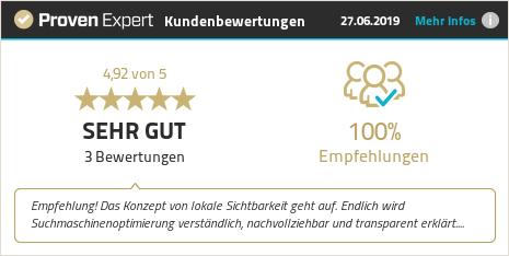 Kundenbewertungen & Erfahrungen zu lokalesichtbarkeit.de. Mehr Infos anzeigen.