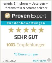 Erfahrungen & Bewertungen zu enerix Elmshorn – Uetersen – Photovoltaik & Stromspeicher