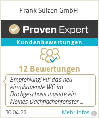 Erfahrungen & Bewertungen zu Frank Sülzen GmbH