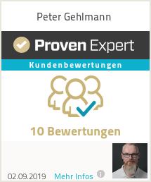 Erfahrungen & Bewertungen zu Peter Gehlmann