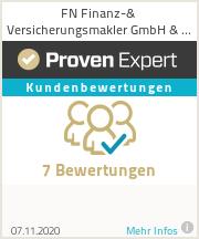Erfahrungen & Bewertungen zu FN Finanz-& Versicherungsmakler GmbH & Co.KG