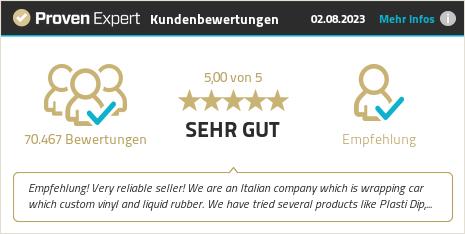 Erfahrungen & Bewertungen zu DIPON.DE Removable Automotive Coatings GmbH & Co. KG anzeigen