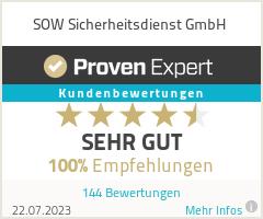 Erfahrungen & Bewertungen zu SOW Sicherheitsdienst GmbH