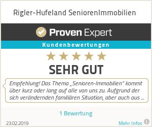 Erfahrungen & Bewertungen zu Rigler-Hufeland PflegeImmobilien