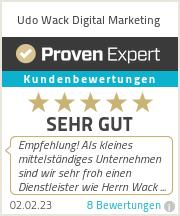 Erfahrungen & Bewertungen zu Udo Wack Digital Marketing