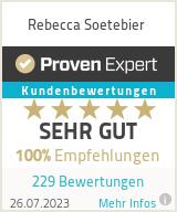 Erfahrungen & Bewertungen zu Rebecca Soetebier