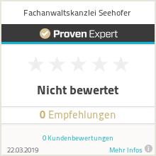 Erfahrungen & Bewertungen zu Fachanwaltskanzlei Seehofer