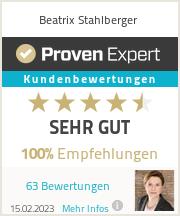 Erfahrungen & Bewertungen zu Beatrix Stahlberger