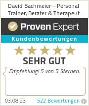 Erfahrungen & Bewertungen zu David Bachmeier - Personal Training, Ernährungsberatung & -therapie, Bewegungs- & Schmerztherapie & Coaching