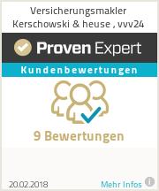 Erfahrungen & Bewertungen zu Versicherungsmakler Kerschowski & heuse , vvv24