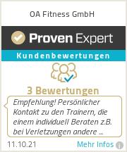 Erfahrungen & Bewertungen zu OA Fitness GmbH
