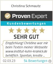 Erfahrungen & Bewertungen zu Christina Schmautz