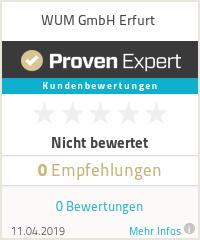 Erfahrungen & Bewertungen zu WUM GmbH Erfurt