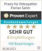 Erfahrungen & Bewertungen zu Praxis für Osteopathie Florian Sahm