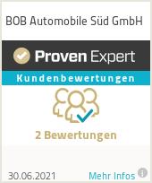 Erfahrungen & Bewertungen zu Bewertungen zu BOB Automobile Süd GmbH