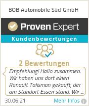 Erfahrungen & Bewertungen zu BOB AUTOMOBILE