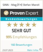 Erfahrungen & Bewertungen zu SINN - Mag.(FH) Stefan Mandl