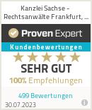 Erfahrungen & Bewertungen zu Kanzlei Sachse - Rechtsanwälte Frankfurt, Offenbach, Wiesbaden, Mainz, Darmstadt, Langen