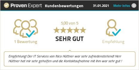 Erfahrungen & Bewertungen zu Nico Hüttner IT-Services anzeigen