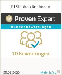 Erfahrungen & Bewertungen zu DJ Stephan Kohlmann