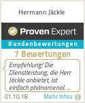 Erfahrungen & Bewertungen zu Hermann Jäckle