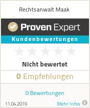 Erfahrungen & Bewertungen zu Rechtsanwalt Maak