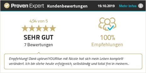 Kundenbewertungen & Erfahrungen zu UplevelYOURlife Academy / Nicole Raess. Mehr Infos anzeigen.