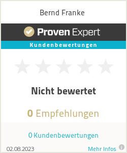 Erfahrungen & Bewertungen zu Bernd Franke