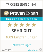 Erfahrungen & Bewertungen zu TRICKSIEBZEHN GmbH