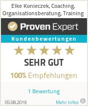Erfahrungen & Bewertungen zu Elke Konieczek, Coaching, Organisationsberatung, Training