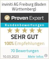 Erfahrungen & Bewertungen zu inviniti AG Freiburg (Baden Württemberg)