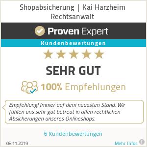 Erfahrungen & Bewertungen zu Shopabsicherung | Harzheim Rechtsanwalt