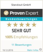 Erfahrungen & Bewertungen zu Standout GmbH