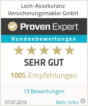 Erfahrungen & Bewertungen zu Lech-Assekuranz Versicherungsmakler GmbH