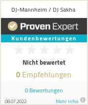Erfahrungen & Bewertungen zu DJ-Mannheim / DJ Sakha