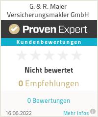 Erfahrungen & Bewertungen zu G. & R. Maier Versicherungsmakler GmbH