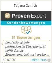 Erfahrungen & Bewertungen zu Tatjana Genrich